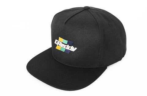 Slant Box Stripe GReddy Logo Snap-Back Cap - Black - NEW!