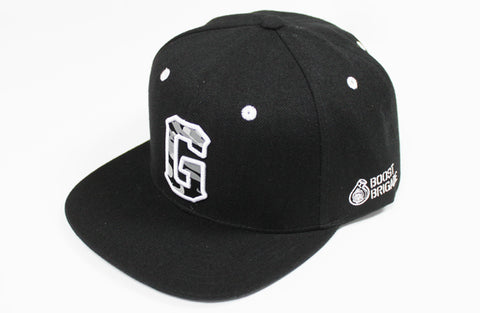 "GPP Camo ""G"" Snap-Back Cap - Black / White - NEW!"