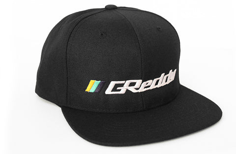 Slant Stripe (L) GReddy Logo Snap-Back Cap - Black - NEW!
