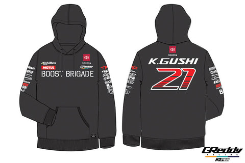 Team GReddy Racing 2019 Black Pullover Hoodie with Sponsor Logos