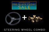 "Pre-Black Friday SALE:  GReddy ""Black Edition"" Steering Wheel with FREE Ti bolts - Sorry Sold Out!"