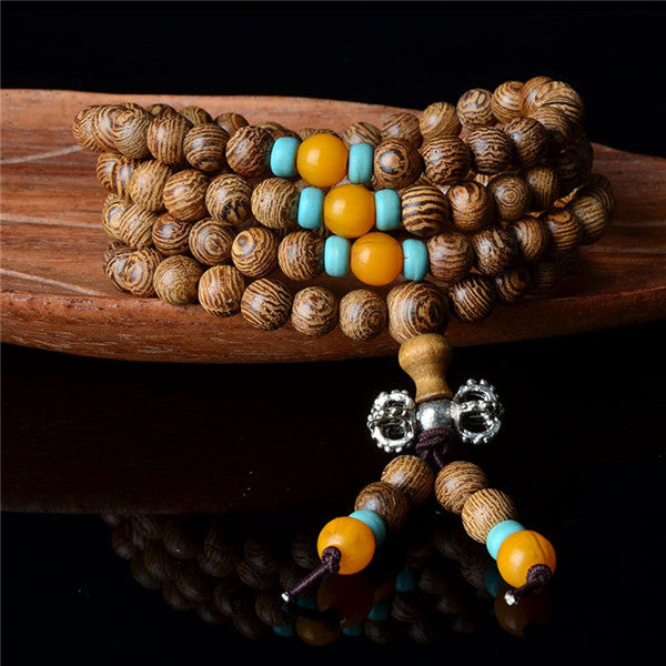 6mm or 8mm Wood Buddhist Mala Meditation Beads