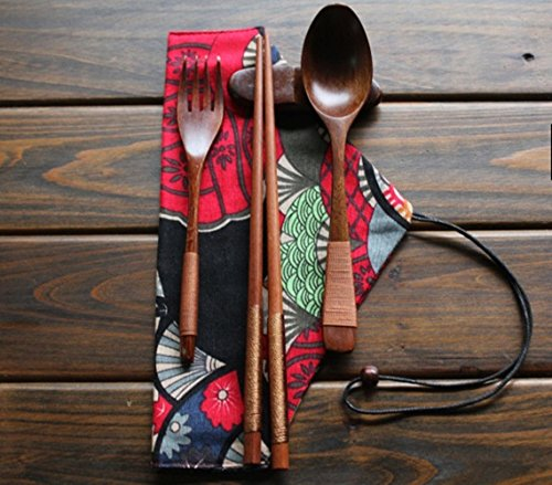 Wood Tableware Set