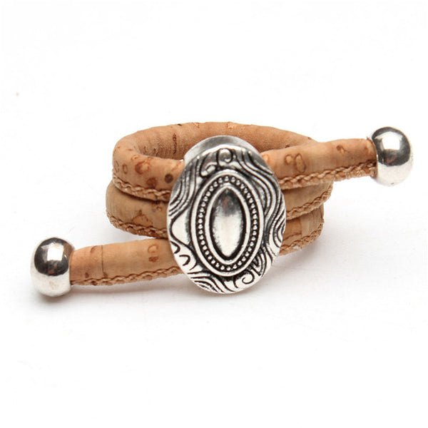 Natural Cork and Antique Sliver Ring