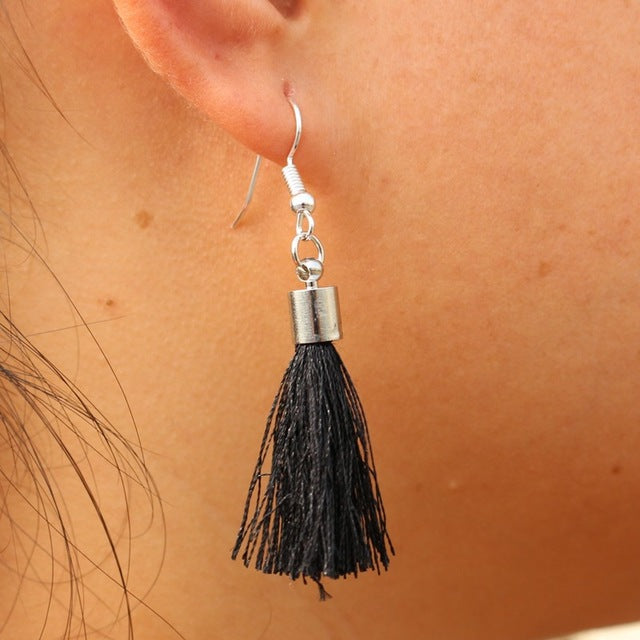 Tassel and Gemstone earrings