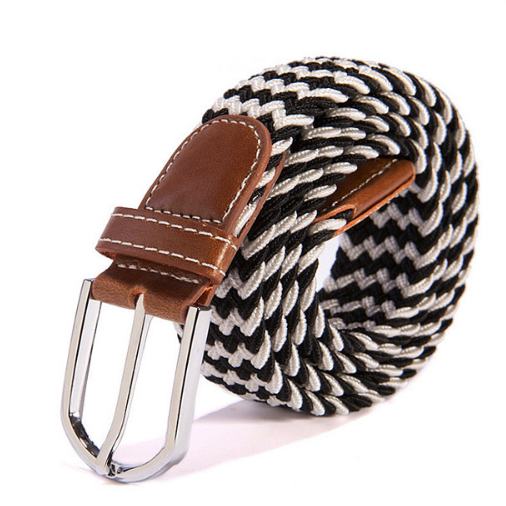 Contrast Woven Cord Belt