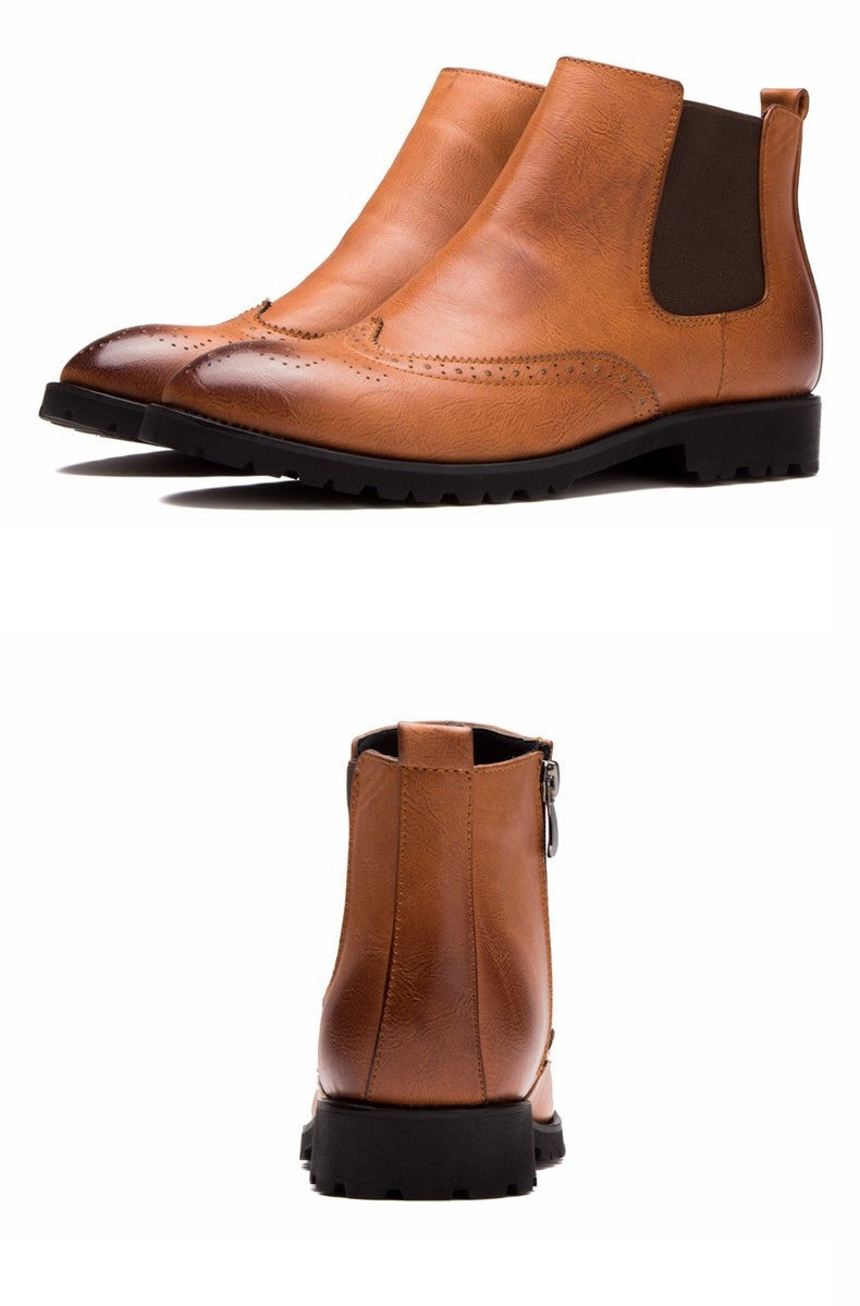 Brogue Chelsea Boots (3 Colors) - TakeClothe - 7