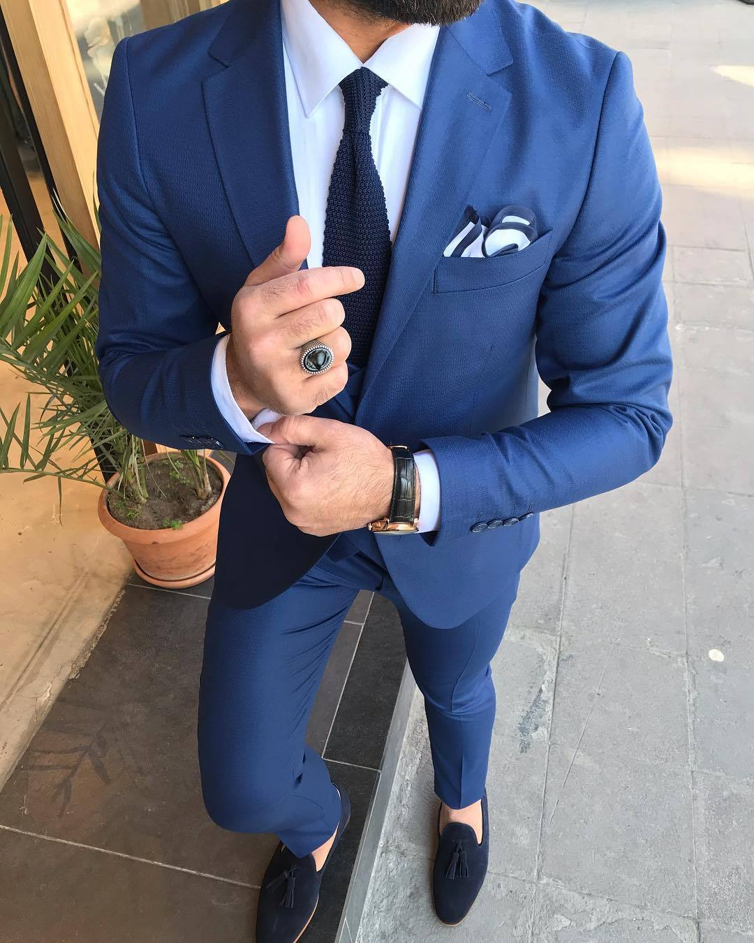 Joseph Navy Slim-Fit Suit