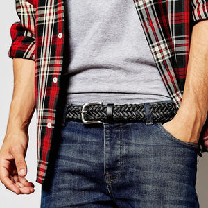 Leather Plaited Belt (3 Colors) - TakeClothe - 1