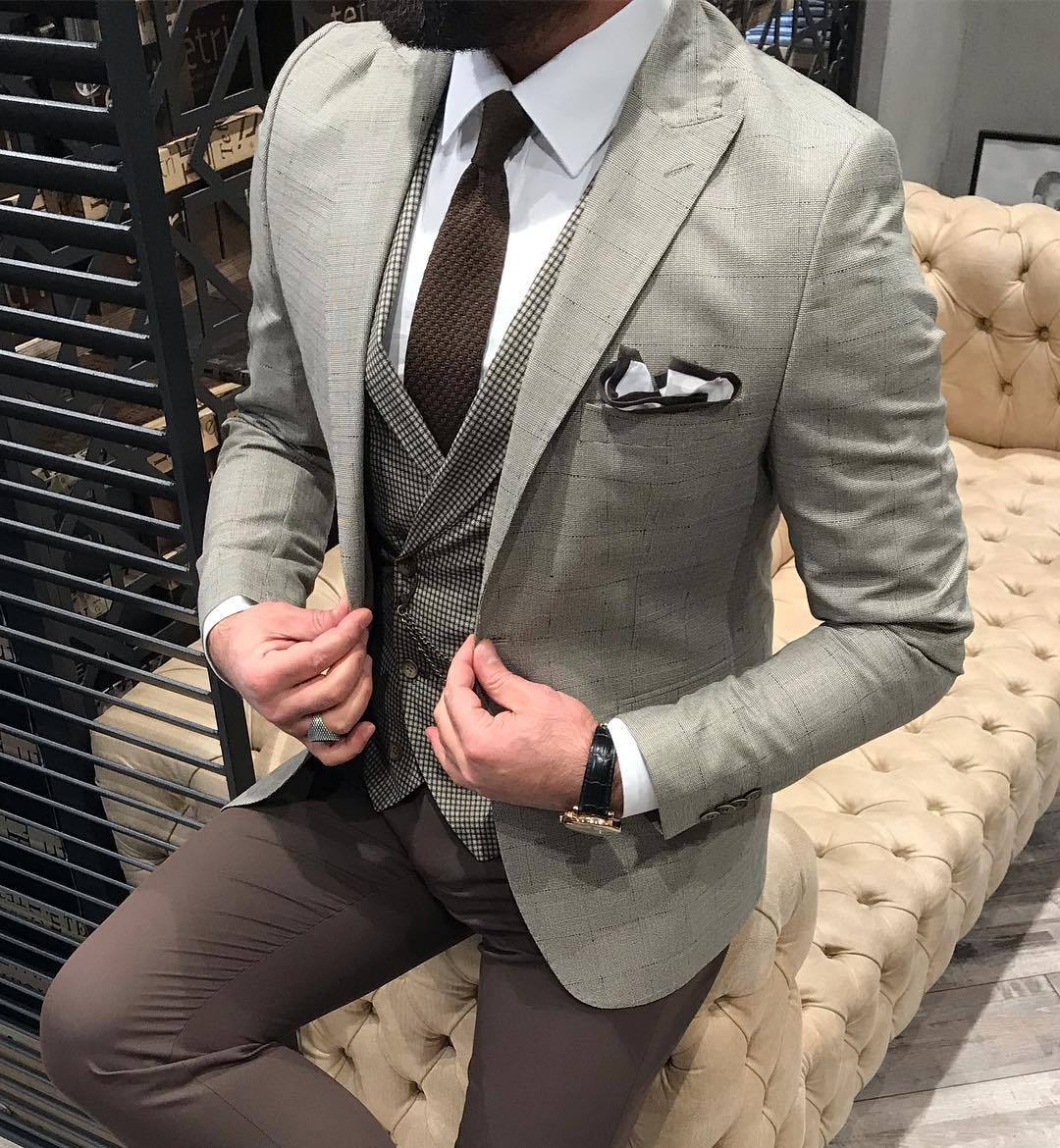 Havana Cream Slim Suit