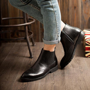 Brogue Chelsea Boots (3 Colors) - TakeClothe - 1