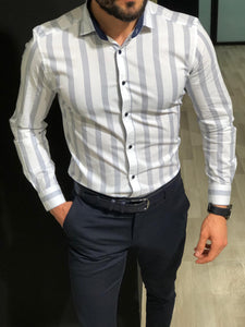Capstone White Striped Shirt