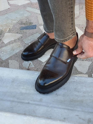 Moneta Brown Buckle Shoes
