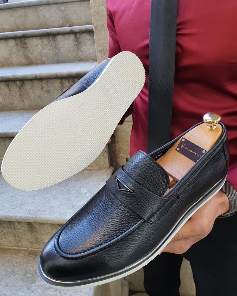Bellingham Black Buckle Loafer
