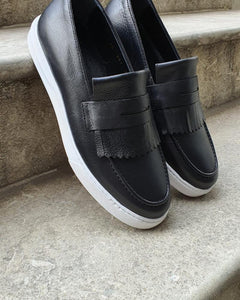 Pierre Black Kilt Loafers