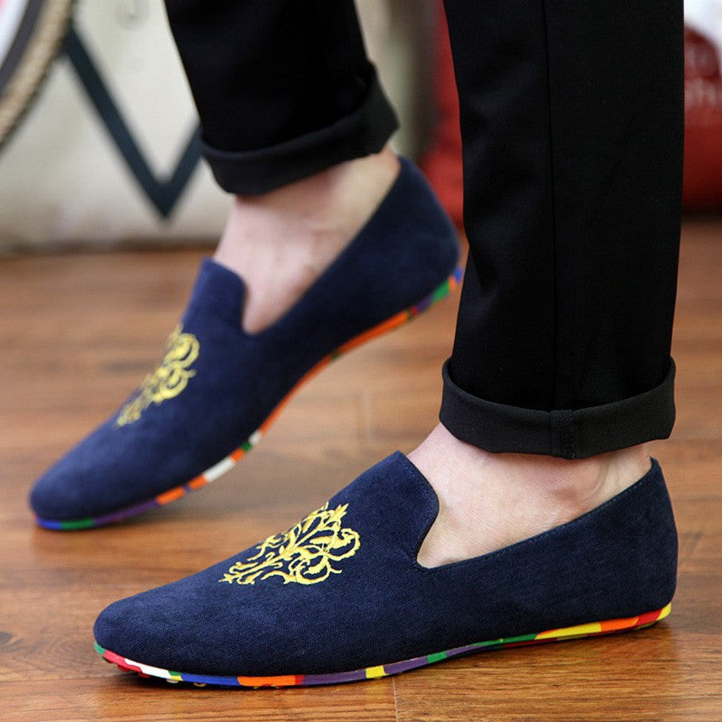 Velvet Loafers With Embroidery (3 Colors) - TakeClothe - 2