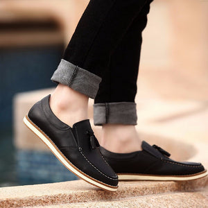 Leather Tassel Loafers (2 Colors) - TakeClothe - 2