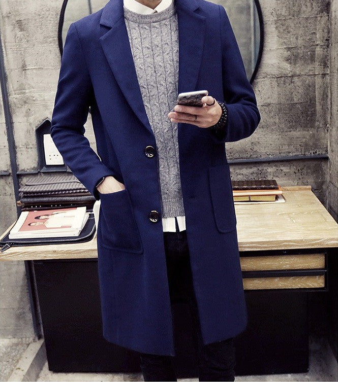 Wool Coat with Pockets (4 Colors)