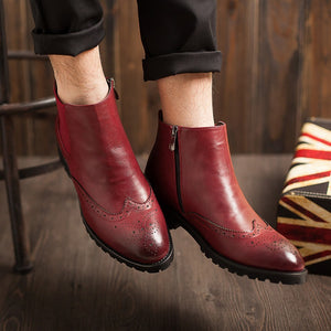 Brogue Chelsea Boots (3 Colors) - TakeClothe - 3