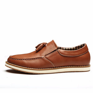 Leather Tassel Loafers (2 Colors) - TakeClothe - 3