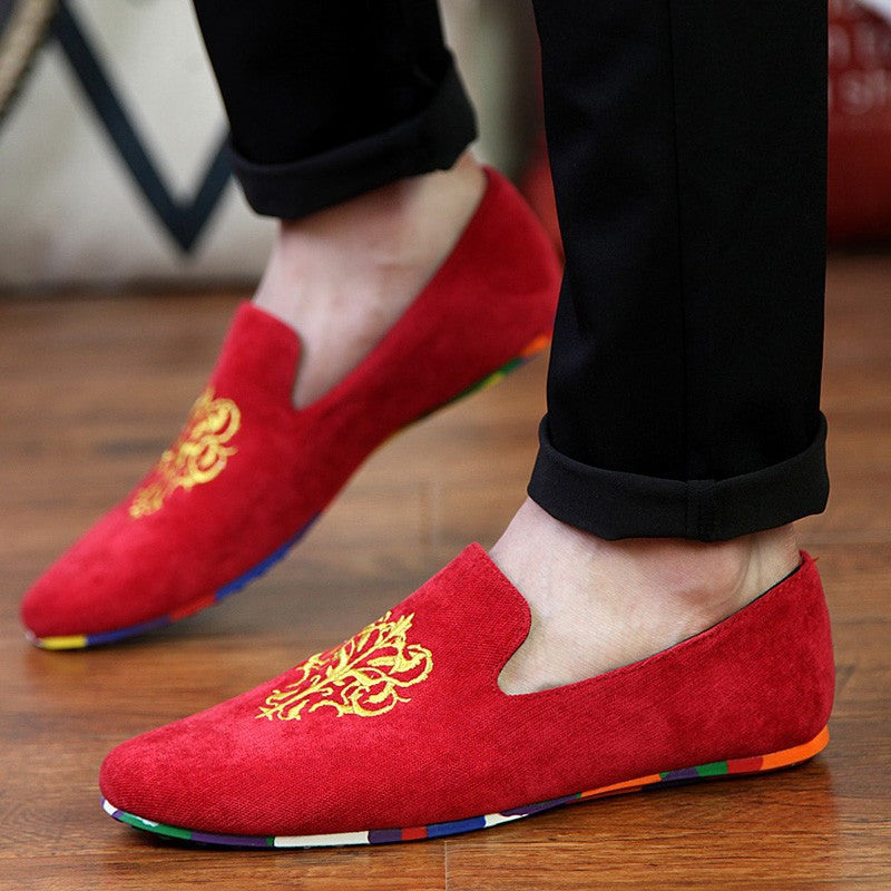 Velvet Loafers With Embroidery (3 Colors) - TakeClothe - 3