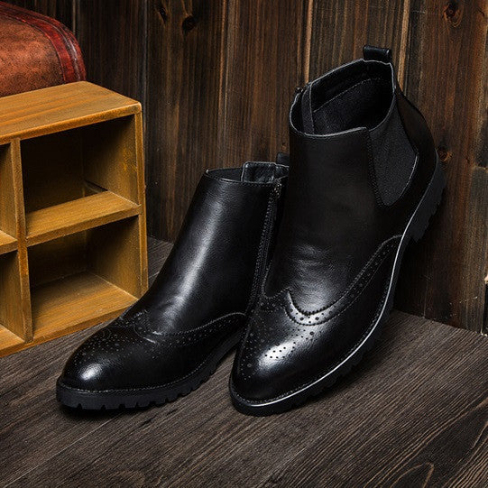 Brogue Chelsea Boots (3 Colors) - TakeClothe - 4
