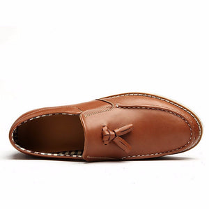 Leather Tassel Loafers (2 Colors) - TakeClothe - 5