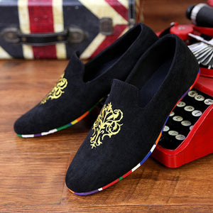 Velvet Loafers With Embroidery (3 Colors) - TakeClothe - 4