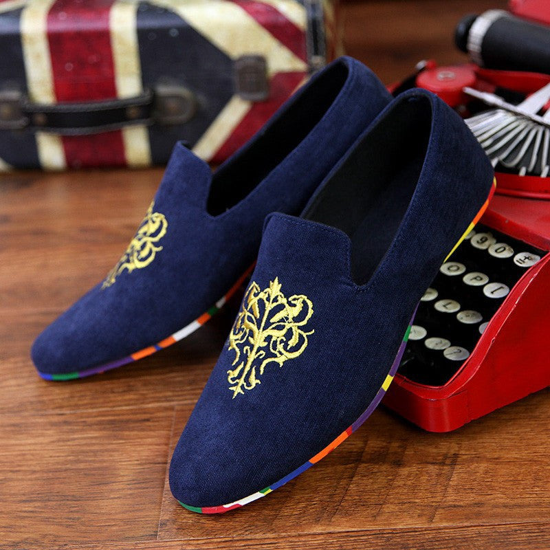 Velvet Loafers With Embroidery (3 Colors) - TakeClothe - 5