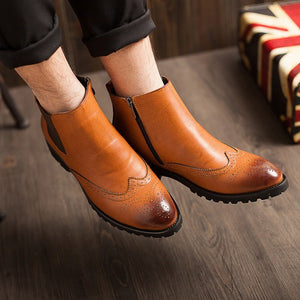 Brogue Chelsea Boots (3 Colors) - TakeClothe - 2