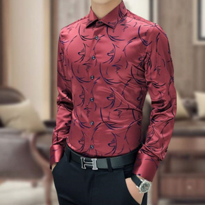 Paisley Fitted Casual Dress shirt