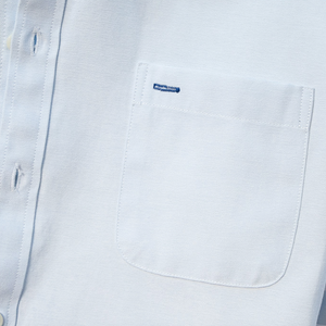 Square-Collar Solid Casual Shirt