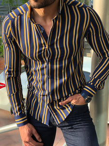 Mustang Yellow Striped Shirt