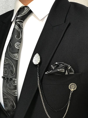 Apollo Black Slim-Fit Suit