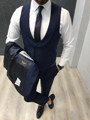 Apollo Blue Slim-Fit Suit