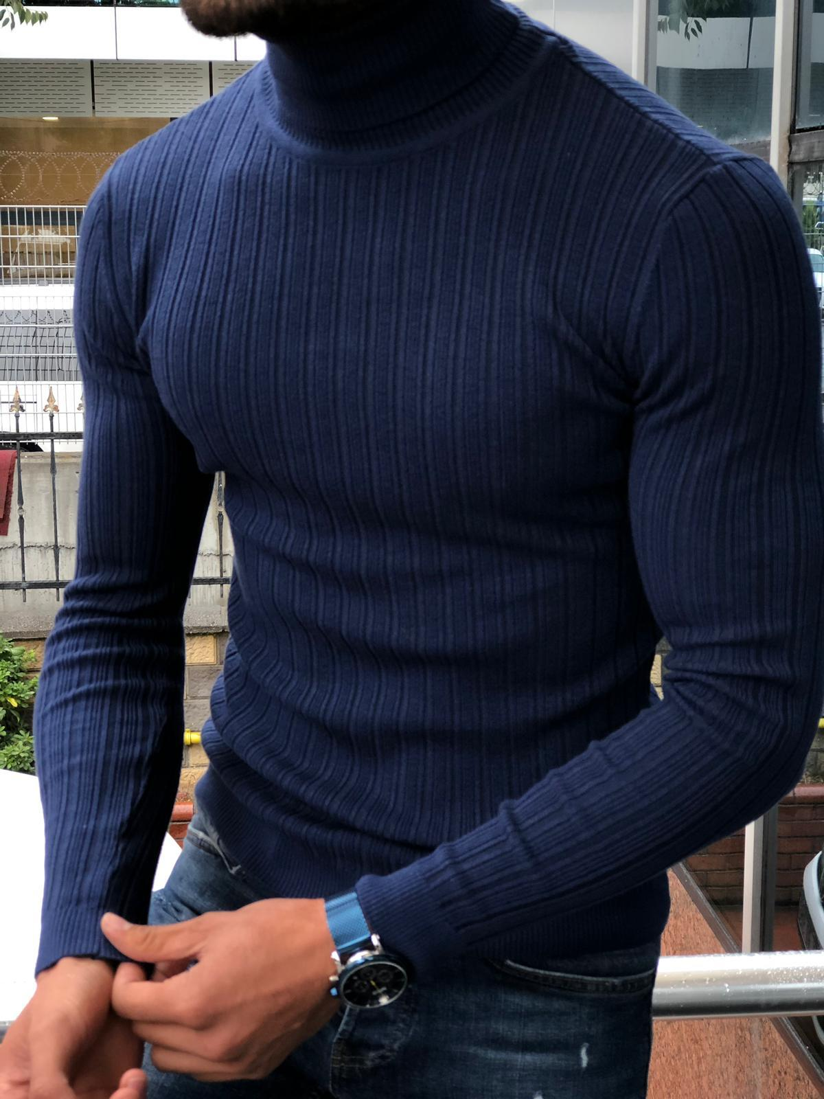 Eva Slim-Fit Turtleneck Knitwear in 5 Colors