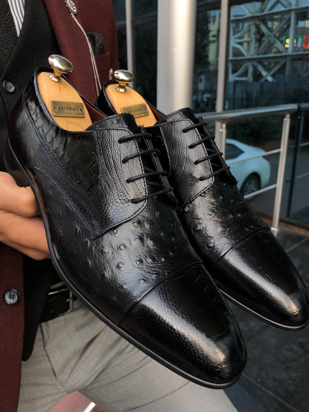 Sardinelli Classic Leather Shoes Black