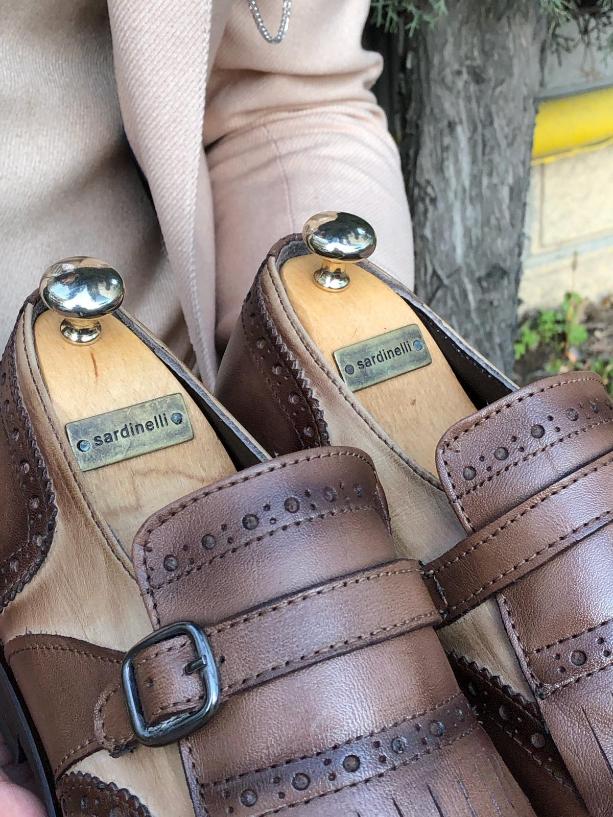 Sardinelli Buckle Detail Leather Shoes Brown