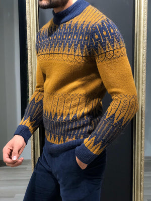 Tommy Slim-Fit Wool Half Turtleneck Knitwear Tabacco