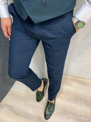 Kingston Green  Slim Fit Plaid Suit