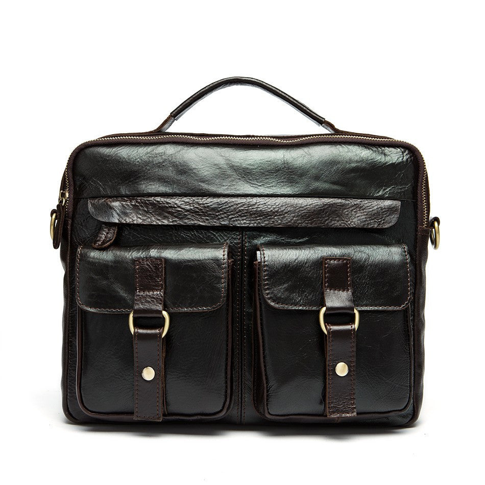 Exclusive Vintage Leather Briefcase (4 Colors) - TakeClothe - 1