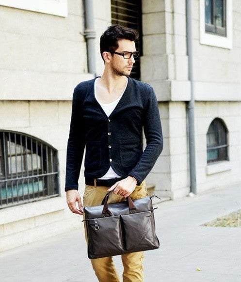 Fashion Leather Briefcase (2 Colors) - TakeClothe - 1