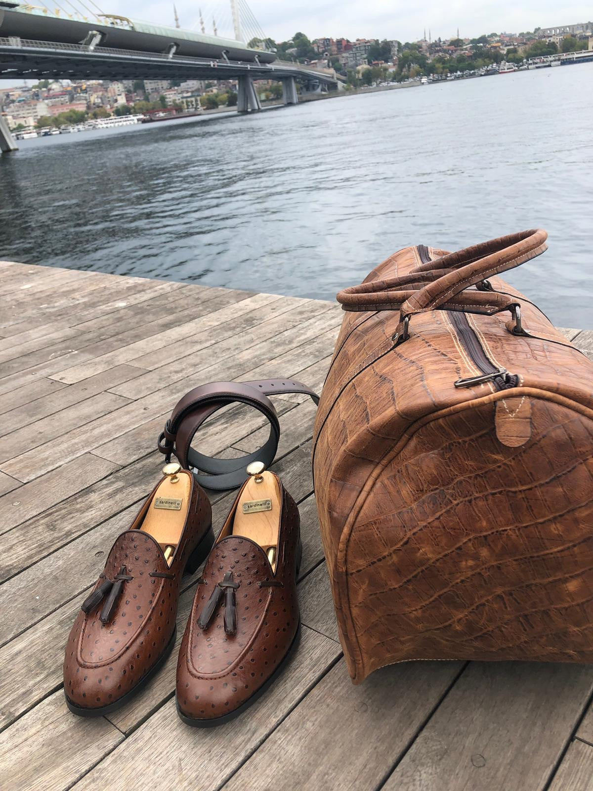 Marina Brown Leather Tassel Loafer