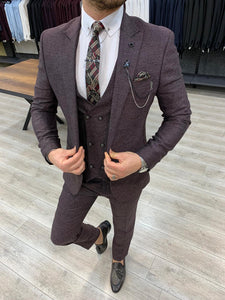 Wilson Claret Red Slim Fit Suit