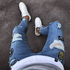 Slim-Fit Ripped Jeans