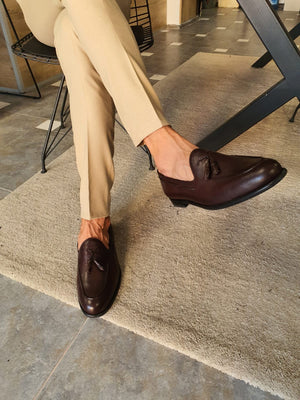 Torino Tassel Brown Loafers
