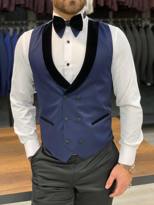 Forenza Royal Slim Fit Navy Blue Tuxedo