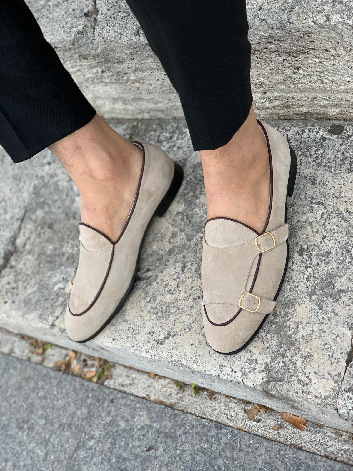 Stanoss Cream Buckle Shoes