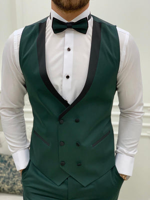 Torino Green Slim Fit Velvet Peak Lapel Tuxedo