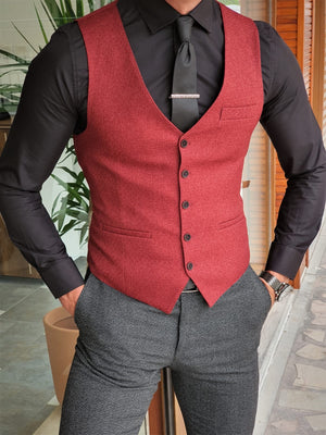 Henderson Claret Red Slim Fit Suit